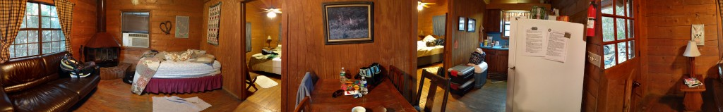 Inside the cabins at Foxfire